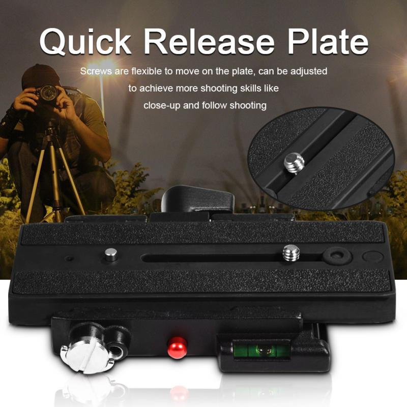 Quick Release Slide Plate Rapid Connect Tripod Adapter Camera Accessory