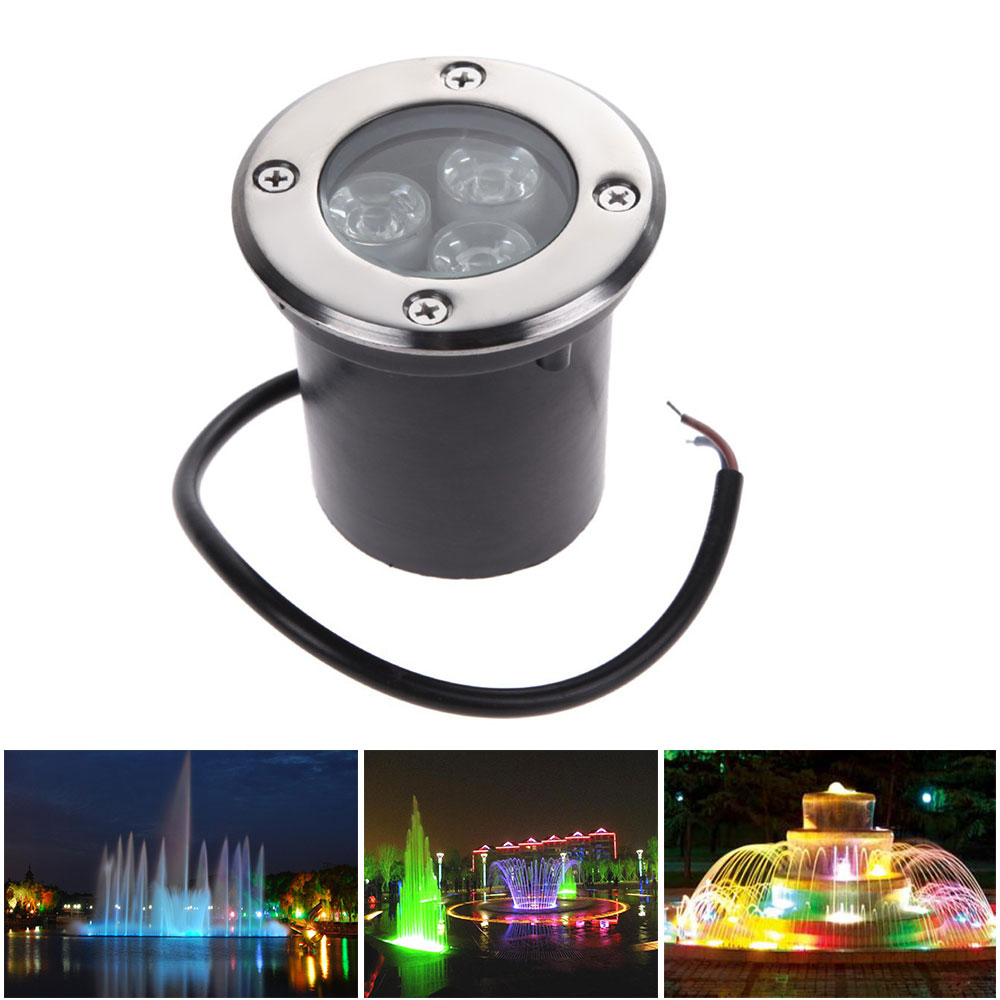 1x Waterproof Ac 220v 110v 1w 3w Led Underground Light Inground Lamp Electrical Line Into The Garden To Power An Outdoor Lampada 85 265v Rgb White Warm Buried