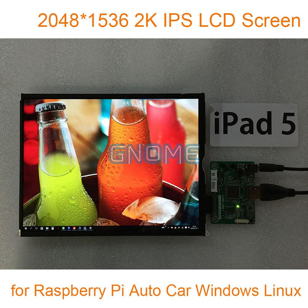 9.7 Inch 2048*1536 2K IPS Hdmi with Driver Board LCD Screen Kit Monitor Set for Raspberry Pi 3 Auto Car Display Windows Linux