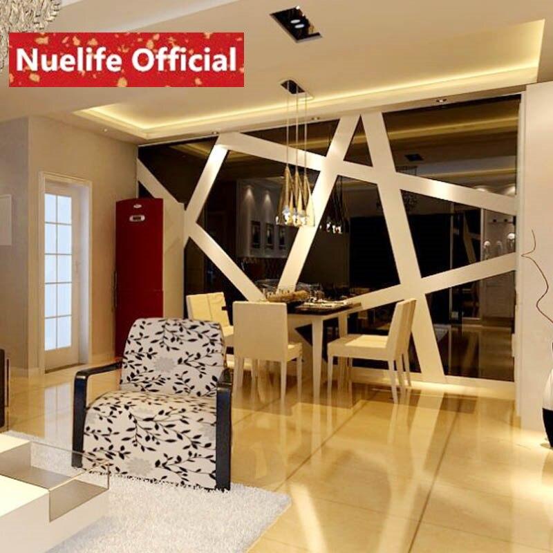 grande figure de glace acrylique miroir stickers muraux ktv salon salle a manger tv grand fond decoration stickers muraux n4