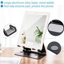Dual Desktop Aluminum Alloy Mobile Phone Bracket Supports Two Phones Using Portable Foldable