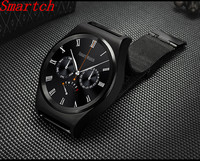 Smartch Lowest price X10 Smart Watch Support Heart Rate Monitor Bluetooth 4.0 Real Leather Smartwatch Supports Arabic Turkish