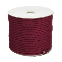 5MM 50Yard Spool Inelastic Wine Red Strong Beading Nylon Cord Wire String For Thread Bracelet Choker