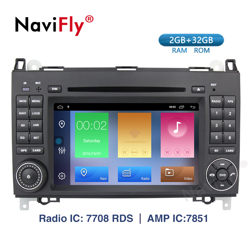 Navifly! Android 9.1 Car dvd radio Multimedia Player For Mercedes Benz Sprinter B200 B class Vito Viano W245 B170 W209 W169 GPS