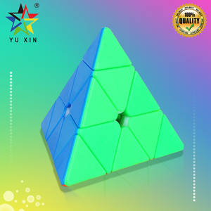 2019 YUXIN Magic Cube 3*3 PYRAMID Triangle Speed Cube Professional Magico Cubo Puzzles Colorful Educational Toys For Children