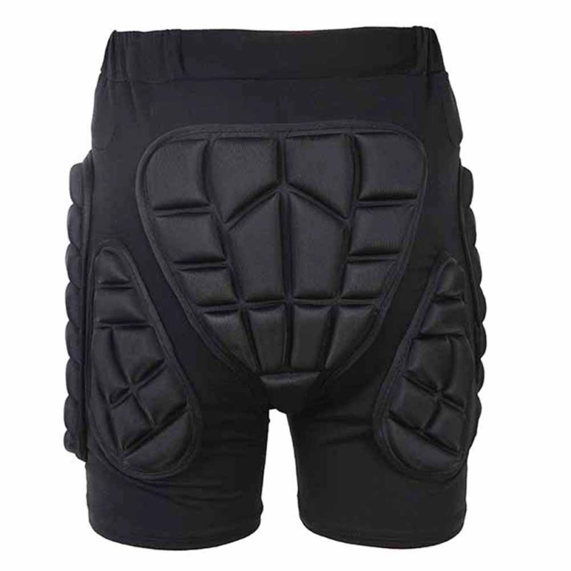Men Comfy Padded Hip Protective Pants Skiing Snowboard Anti-Drop Shorts Protector Gear A