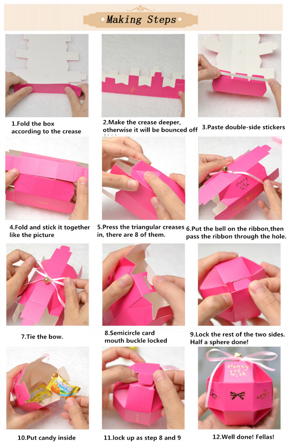 100pcs Lot Red Rose Diy Beautiful Candy Box Wedding Favor Gift Boxes