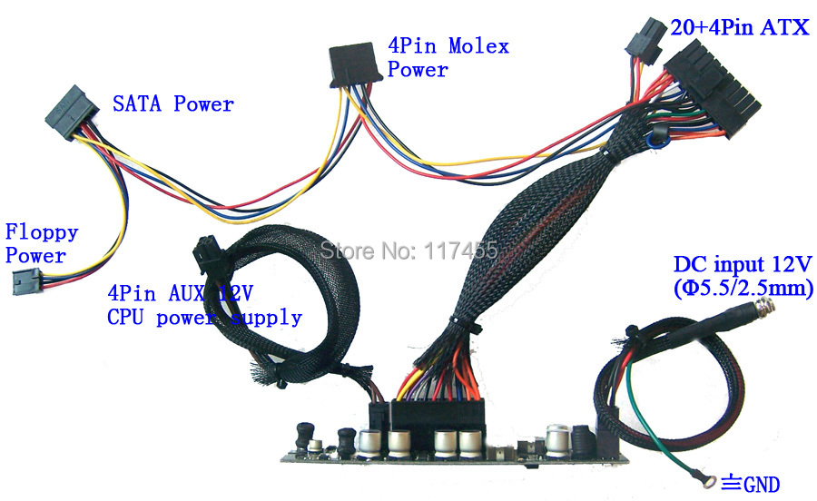 how to connect car radio to pc power supply