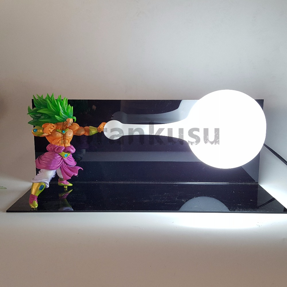 Anime Dragon Ball Z Broly Super Saiyan Action Figure Kamehameha Led Lighting Dragon Ball Z DBZ Broly Model Toy Figurine dragon ball z action figure broli super saiyan pvc model toy broly esferas del dragon dbz figuras db11