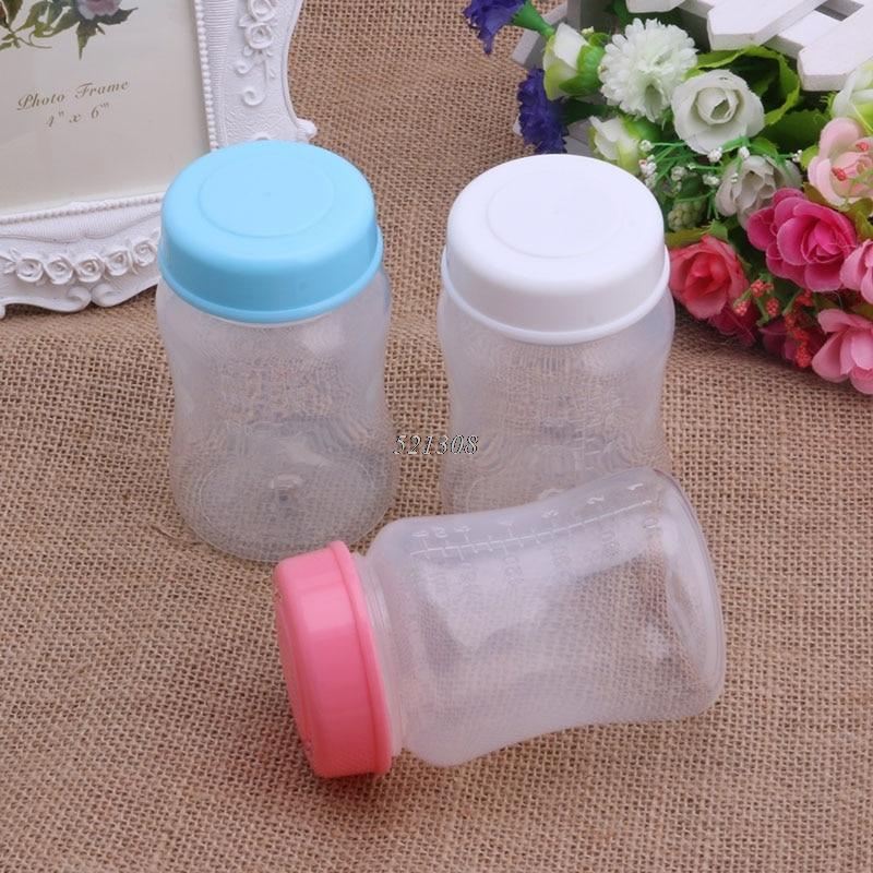 180ML Breast Milk Collection Storage Wide Neck Bottles BPA Free Storage Bottle
