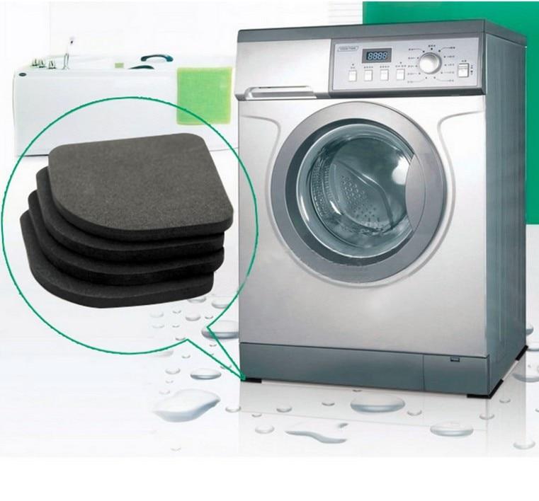 NEW 4 Pcs/Sets Washing Machine Anti-shock Pad Mute Cotton Slip Suit For Table Leg Pad Sh ...