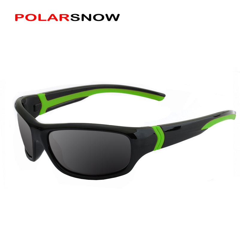 POLARSNOW Polarized Sunglasses Kids Boys Girls Sport Children Sun Glasses Baby Eyeglasses Oculos De Sol(China)