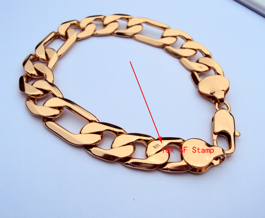 compare prices on real gold mens watches online shopping buy low fashion yellow gold real stamp gf men s bracelet 9 thick chain watch link unconditional lifetime
