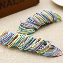 50pcs/lot 5CM Korean Childrens  Candy Color Girl Not Hurt Hair Rope Ring Baby Rubber Band Accessories