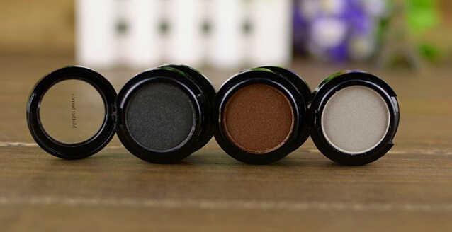 Glitter Eyeshadow 3 Colors Eye Shadow Powder Metallic Shimmer white coffee darkgrey color smokey eyes makeup