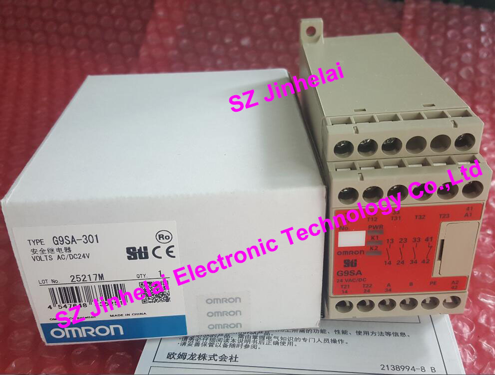 New and original  G9SA-301    AC/DC24V  OMRON SAFETY RELAY UNIT new and original e3x da11 s omron optical fiber amplifier photoelectric switch 12 24vdc