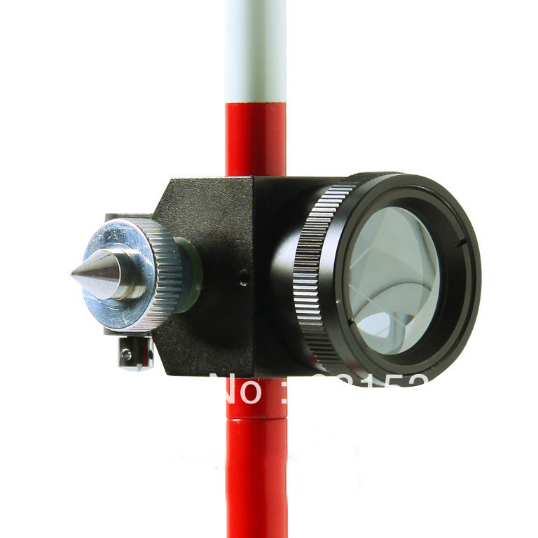 Mini Prism with 3 Three Poles for Total Station Brand New 0mm Prism Offset