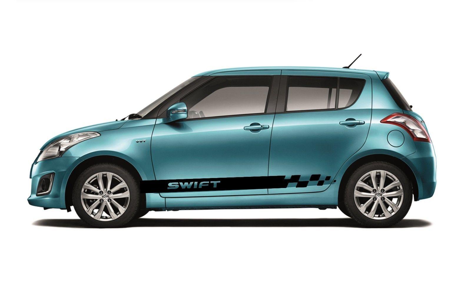 Car Styling For 2x Suzuki Swift Side Skirt Vinyl Body