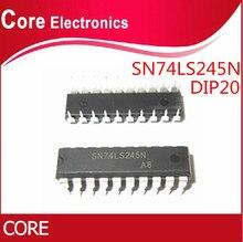 100 adet SN74LS245N DIP20 SN74LS245 DIP 74LS245N DIP 20 74LS245 HD74LS245P yeni ve orijinal IC