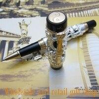 Jinhao dragão phoenix pesado prata chinês clássico sorte clipe rolo caneta