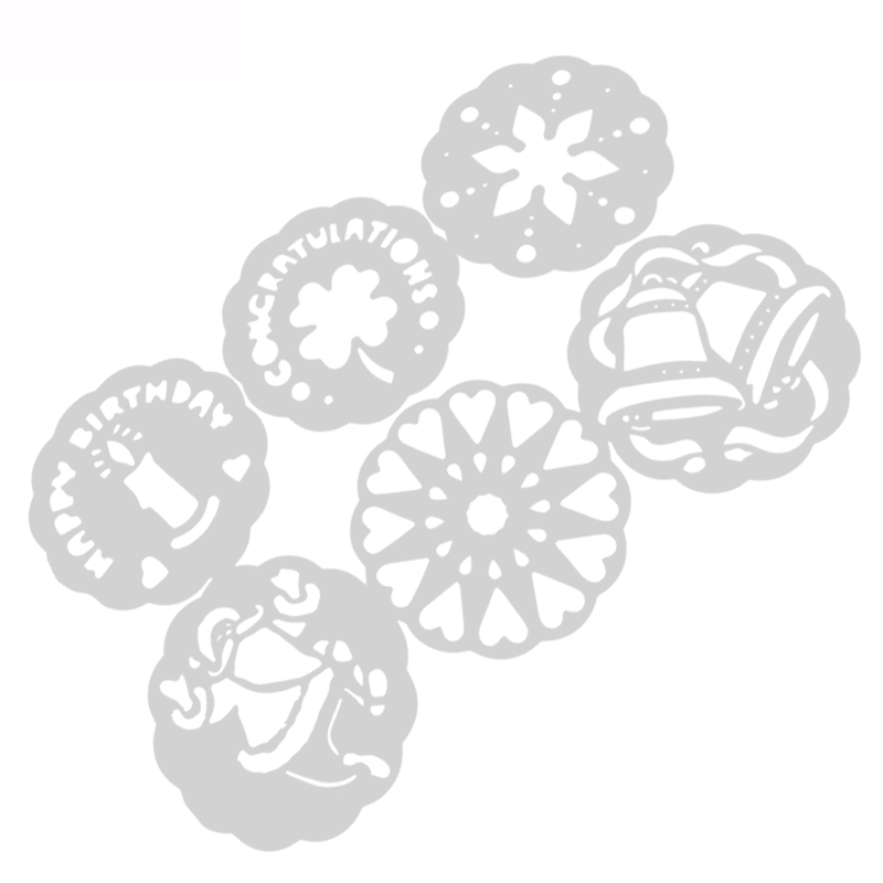 Формы для выпечки 6 шт Рождественский снеговик выпечки Кухонные аксессуары цветок помадка торт кондитерские инструменты для украшения торта трафарет шаблон формы