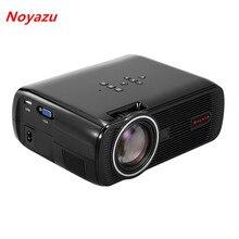 Noyazu 1800 lúmenes Multimedia HD LED Proyector AV/HDMI/VGA/USB Juegos de Video TV Inicio Proyector de Cine proyector proyector de Color Negro