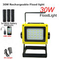 LED Flood light Portable SpotLights Rechargeable floodlight Waterproof Outdoor Work Emergency light+usb charger+3x18650