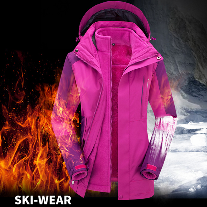 Plus size 5XL Woman Winter Thermal Warm Fleece Waterproof Hiking Camping Fishing Trekking Skiing Climbing Outdoor Jacket Coat men plus size 4xl 5xl 6xl 7xl 8xl 9xl winter pant sport fleece lined softshell warm outdoor climbing snow soft shell pant