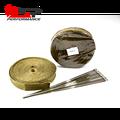 Kingsun 2PCS Titanium Heat Exhaust Thermal Wrap Tape & Stainless Ties 1''x50'