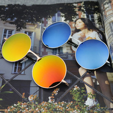 New 2017 hot fashion round metal sunglasses to the ancient woman Prince Muti mirror round sunglasses sunglasses 8701-8723