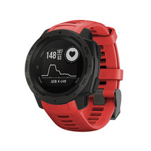 NoEnName_Null Silicone Smart Watchband Replacement For Garmin Instinct 22mm Strap Quick Release Sportswatch Band Unisex