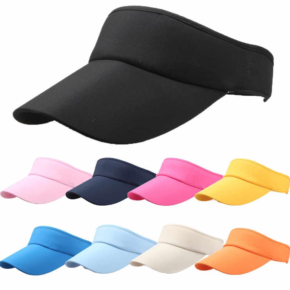 แฟชั่นผู้ชายผู้หญิงกีฬา Headband คลาสสิกปรับกีฬาหมวกหมวก Visor เบสบอลหมวก casquette летняя ขายส่งฟรี ShipZ5
