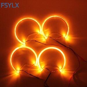 Image 3 - FSYLX LED עיני מלאך עבור BMW E46 halo אור שגיאת משלוח SMD מלאך עין E36 E38 E39 E46 מקרן לבן צהוב אדום כחול מלאך עיניים