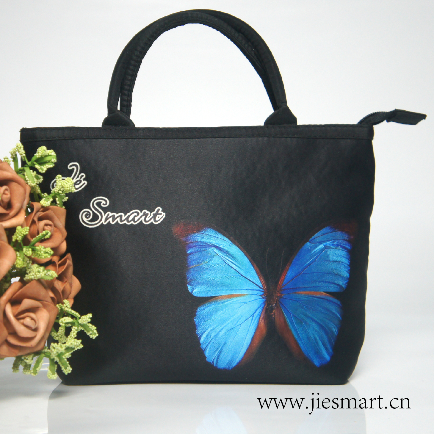 JIESMART Butterfly series CARMEN handbag S sublimation printing custom printing bag souvenirs art culture collection