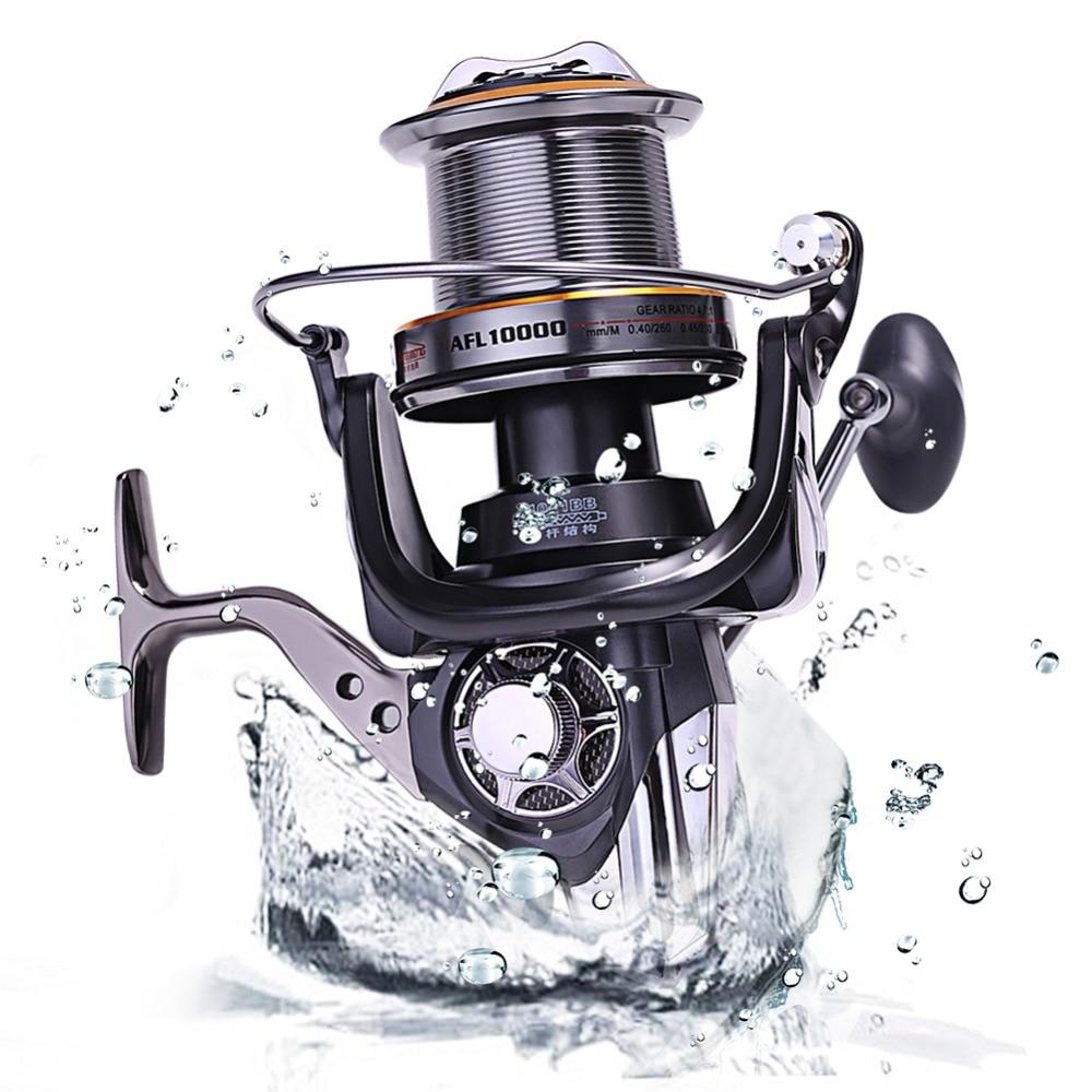 Sougayilang AFL10000 Big Spool Casting Spinning Fishing Reels Saltwater Boat Rock Fishing Spinning Fishing Reel 10+1BB 4:7:1