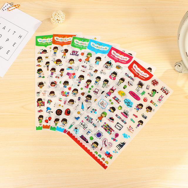 Sweet Little Girl Stickers Diy Album Diary Scrapbook Planner