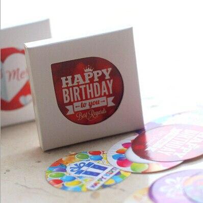 38 unids/pack Dulce Feliz Cumpleaños Pegatinas Diario Pegatinas Etiqueta de Sellado Paquete Decorativo Scrapbooking DIY Pegatinas TA205