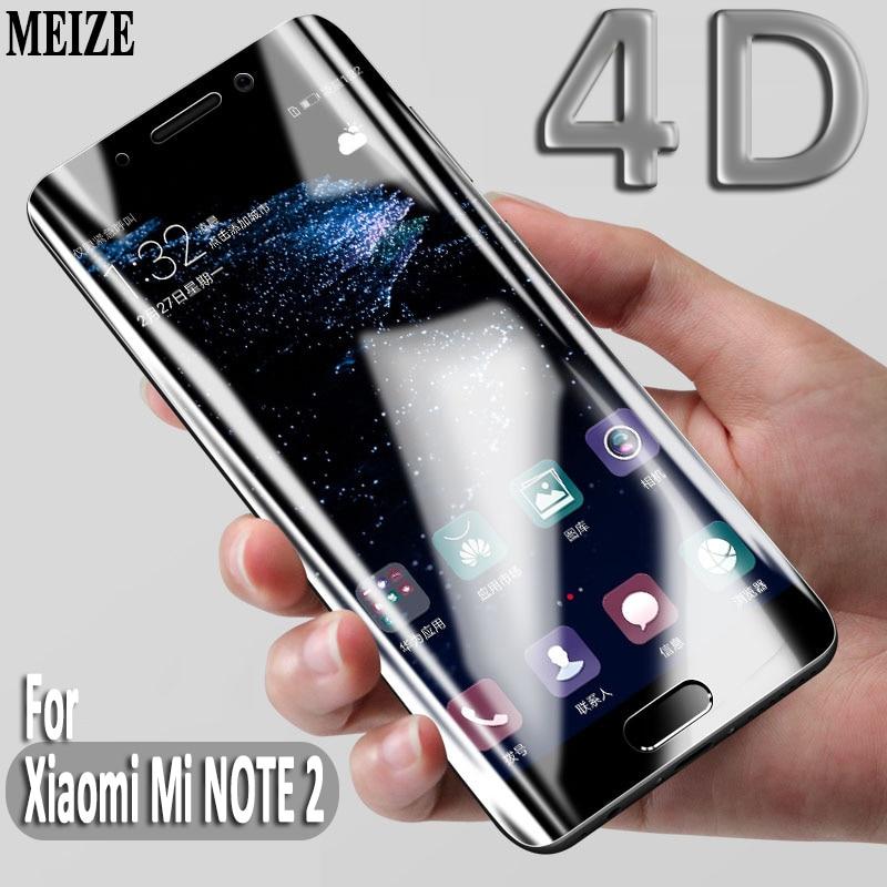 3D קצה מעוגל מלא כיסוי מזג זכוכית לxiaomi Mi הערה 2 מגן מסך נגד פיצוץ סרט מגן עבור Mi Note2