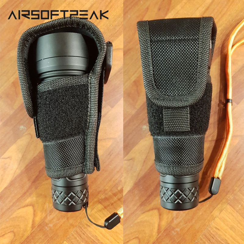 Tactical Airsoft Outdoor Hunting Nylon Flashlight Pouch Flashlight Holster Torch Case Pouch Cover For JM26/TC500 Camping Travel