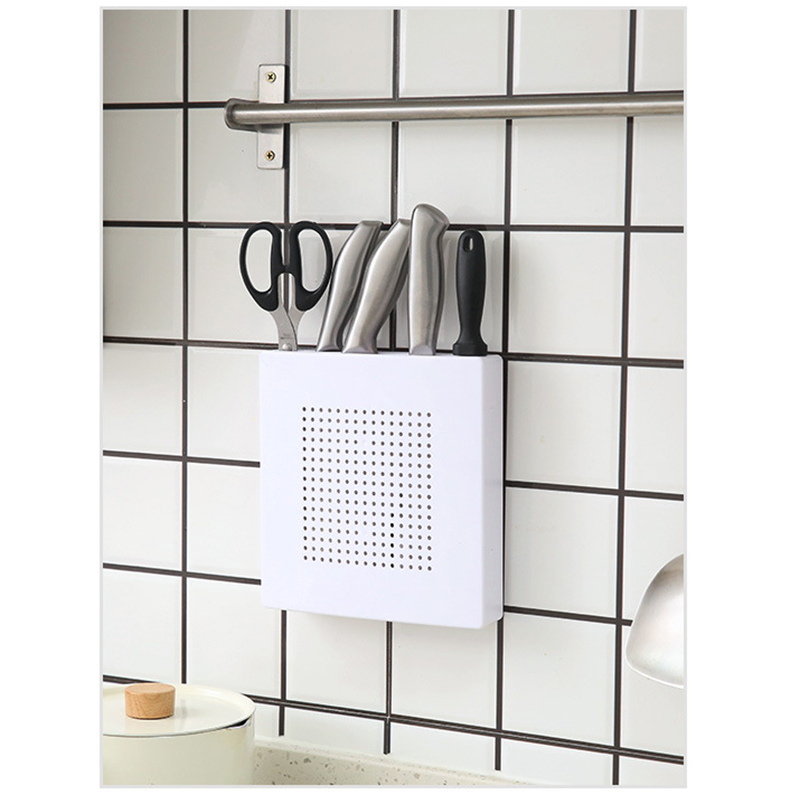 Kitchen Knife Organizer Holder Blocks Wall Holder Plastic Storage Rack Holder Shelf Kitchen Cooking Tools Knife Stand For Knives