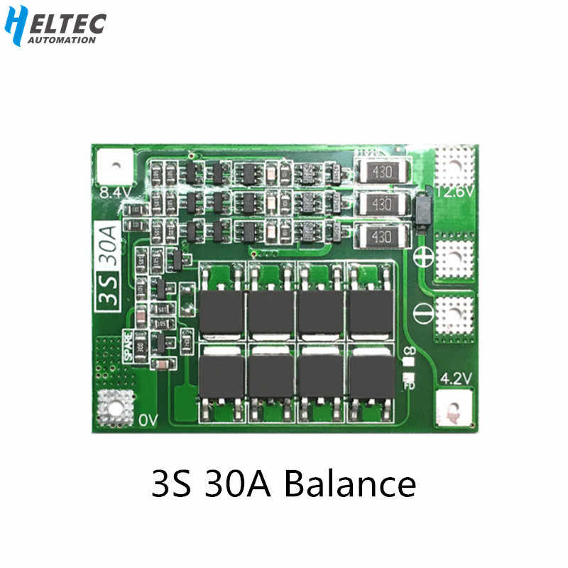 3 S 30A płyta BMS prąd balansu 11.1 V 12.6 V 18650 bateria litowa płyta ochronna z wyrównanie jazdy wiertła 30A prąd