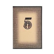 Cuaderno de tapa dura A5, diario de cinco años, cubierta de impresión de grano de madera, planificador de vida diario, papelería, 1 ud.