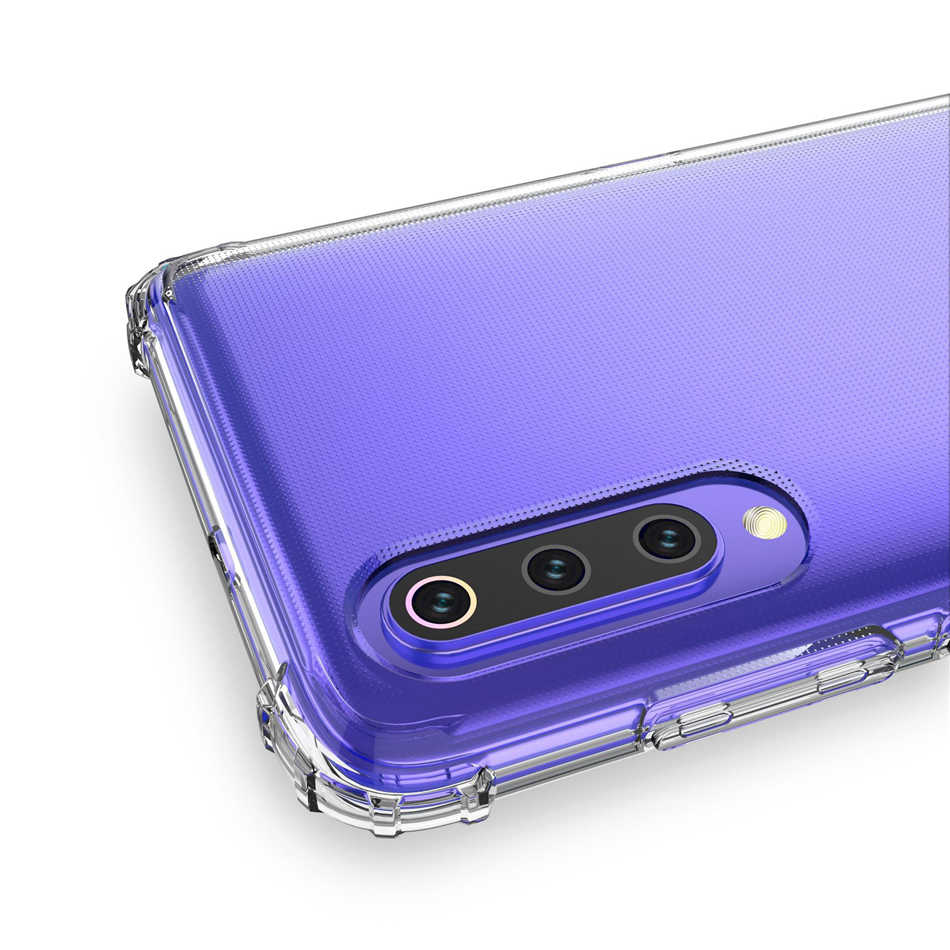 Funda blanda de esquina robusta para Xiaomi Mi 9T 9 8 SE A1 A2 A3 Lite Redmi 5A 6A 7A Note 5 6 7 Pro Crystal Clear fundas para teléfono móvil