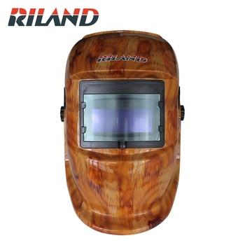 RILAND X501 Solar Powered Auto Darkening Welding Helmet Adjustable Shade Range 4/9-13 for MIG TIG Arc Welder Mask