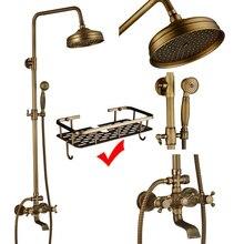 Роскошный набор для душа, смеситель для душа с двойной ручкой, смеситель для душа в форме дождя, настенный 8 дюймовый латунный смеситель для душаshower mixer tapbath shower mixer tapbath shower faucet  АлиЭкспресс