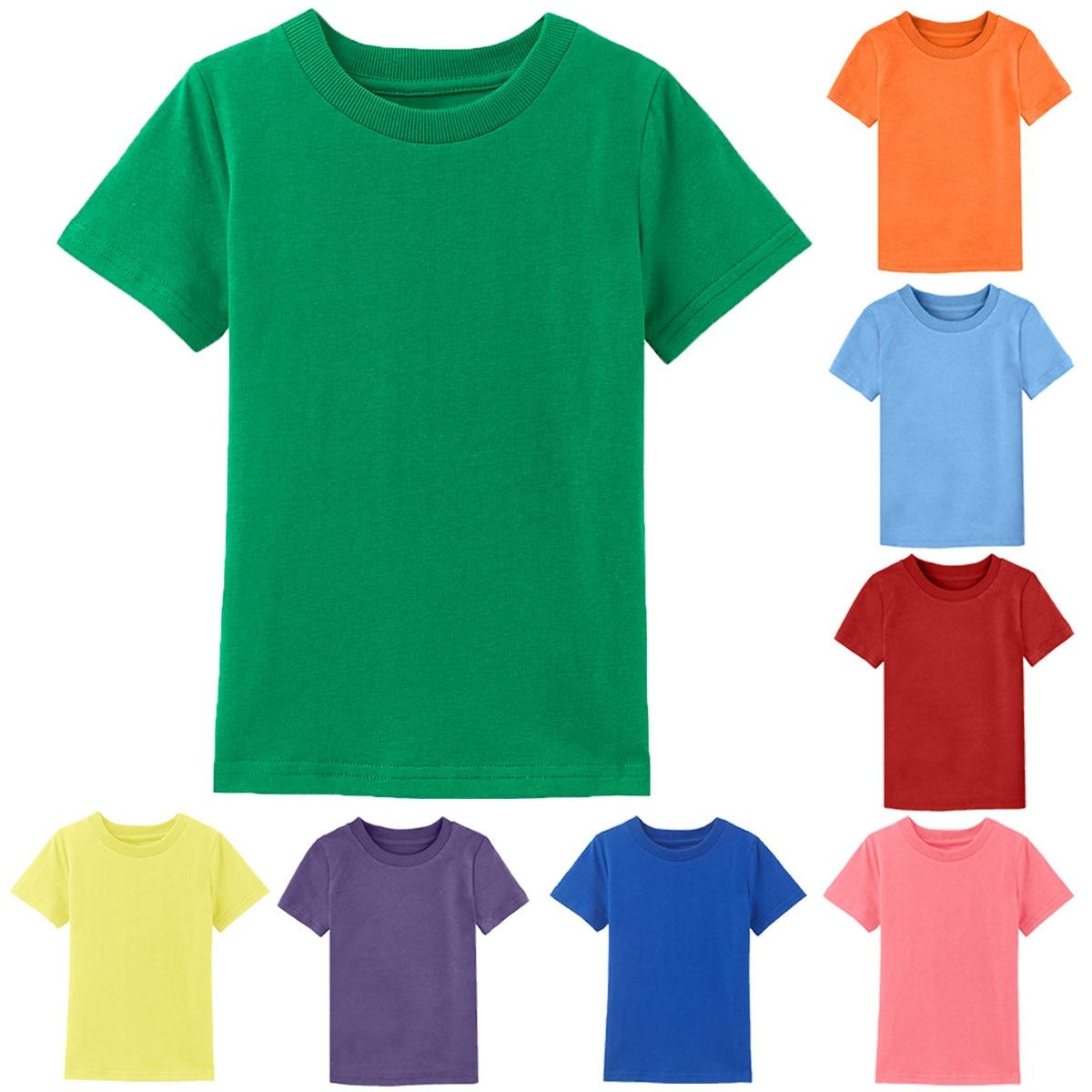 3-15 Yset T shirt Kids Tee Short Sleeve  Tops Children Clothes Toddler Shirts