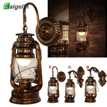 Kaigelin Wall Sconces Vintage Lamp E27 LED Bulb Loft Retro Luminaire Lamps Fixture Antique Glass Industrial Light