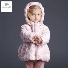 DB3000 дэйв белла зима детские пальто девочка мило куртка ватник девушки верхняя одежда девушки ватные пальто девушки куртка