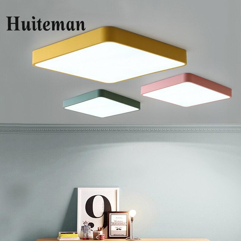 Moderno LED luces de techo luminaria led teto colorida moderna lámpara de techo para sala de estar niños habitación pasillo inicio lámparas