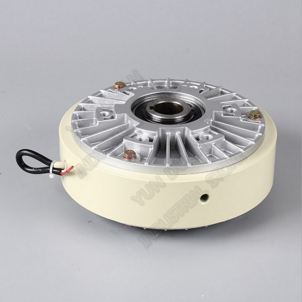25Nm 2.5kg DC 24V Hollow Shaft 1000RPM Magnetic Powder Brake Unwinding For Tension Control Continuous Sliding Simulated Load
